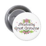 Awesome Great Grandma T-Shirt Badge