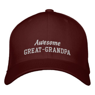 Awesome GREAT-GRANDPA/ New Grandchild or Birthday Embroidered Cap