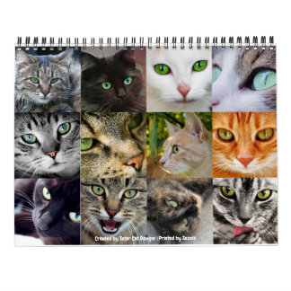 Awesome Green Eyed Cats 12-Month 2018 Wall Wall Calendars