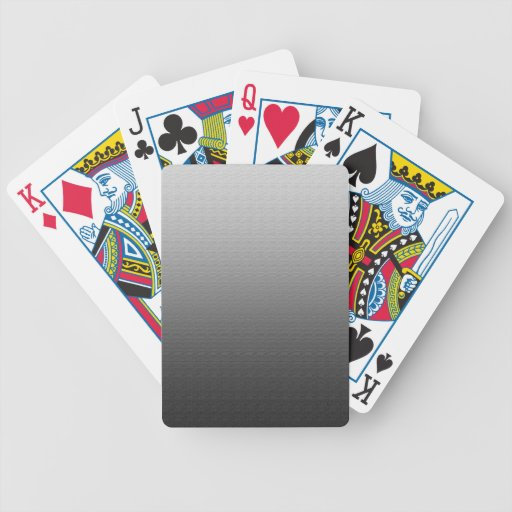 Awesome Grey Ombre Bicycle Poker Cards