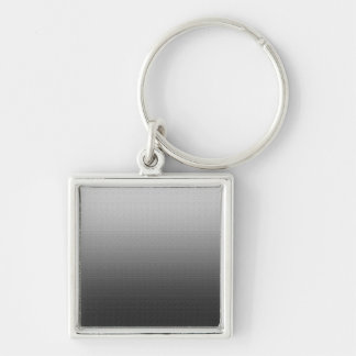 Awesome Grey Ombre Silver-Colored Square Key Ring