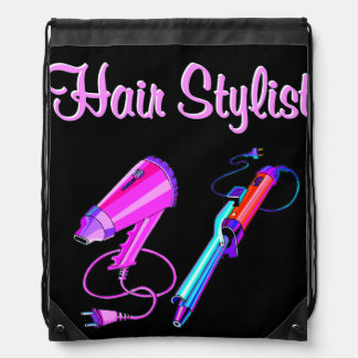 AWESOME HAIR STYLIST TEES AND GIFTS DRAWSTRING BAG