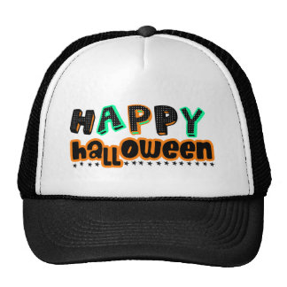 awesome happy halloween design cap