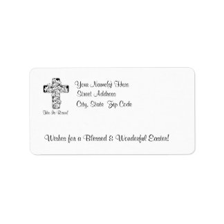 Awesome He is Risen Rejoice His Resurrection #2 Address Label