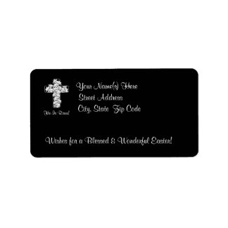 Awesome He is Risen Rejoice His Resurrection Address Label
