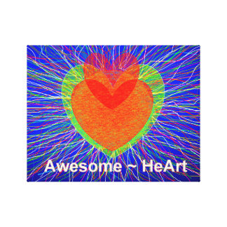 Awesome HeArt Canvas Print