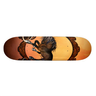 Awesome horse in a frame skate board deck
