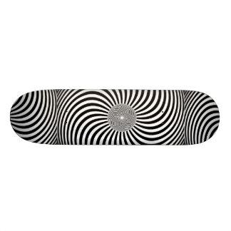 Awesome hypnotic 3D Skateboard. 20 Cm Skateboard Deck