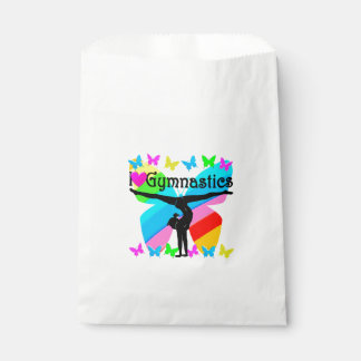 AWESOME I LOVE GYMNASTICS BUTTERFLY DESIGN FAVOUR BAGS