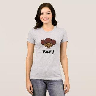 Awesome Ice Cream Yay! Grey T-Shirt