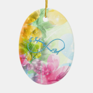 """Awesome Infinity symbol """"To infinity and beyond"""" Ceramic Ornament"""