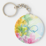 "Awesome Infinity symbol ""To infinity and beyond"" Basic Round Button Key Ring"