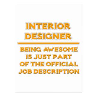 Awesome Interior Designer .. Job Description Postcard