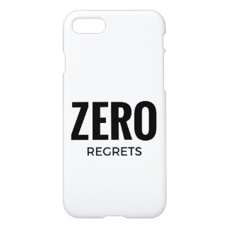 Awesome iPhone Case - Zero Regrets