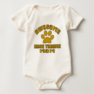 AWESOME IRISH TERRIER MOM BABY BODYSUIT