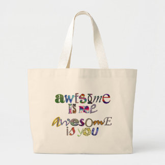 Awesome Is Me Awesome Is You Tote Bag