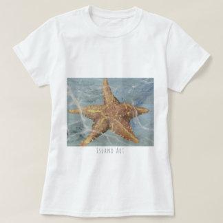 Awesome Island Art Starfish T-shirt by Yotigo
