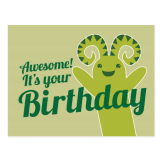 Awesome! It's your Birthday! from Wicked Greetings Postcards