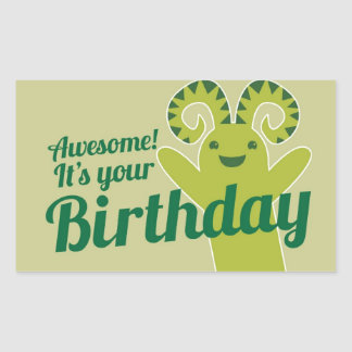 Awesome! It's your Birthday! from Wicked Greetings Rectangular Sticker