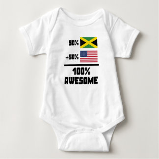 Awesome Jamaican American Baby Bodysuit