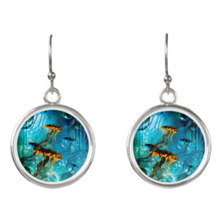 Awesome jellyfish earrings
