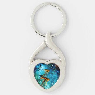 Awesome jellyfish,underwater world key ring