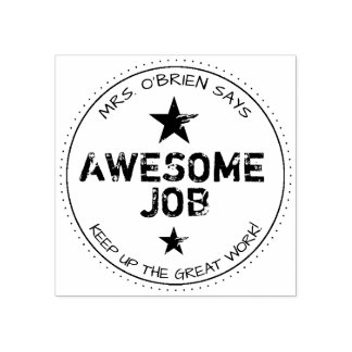 Awesome Job | Personalized Teachers Rubber Stamp