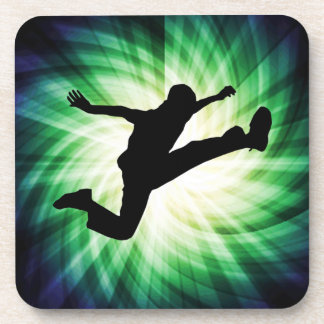 Awesome Jump Kick Drink Coaster