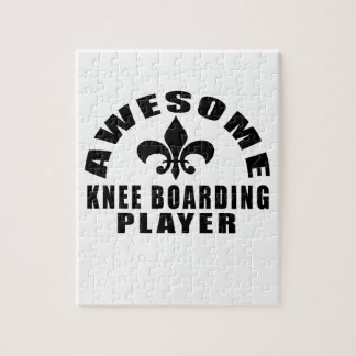 AWESOME KNEE BOARDING PLAYER JIGSAW PUZZLE