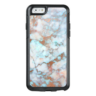 Awesome Light Blue And Brown Marble Stone OtterBox iPhone 6/6s Case
