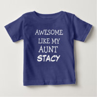 Aunt baby baby clothes shoes zazzle awesome like my aunt custom name baby boy shirt baby boy clothes negle Gallery