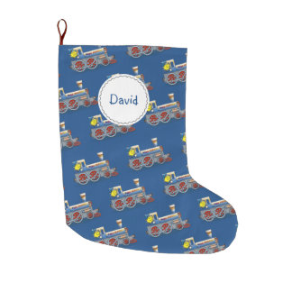 Awesome Locomotive pattern Large Christmas Stocking