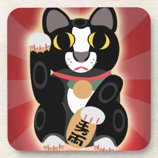 Awesome Lucky Tux Cat Coaster