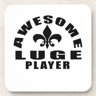 AWESOME LUGE PLAYER DRINK COASTER