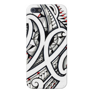 Awesome Maori tribal design on white background Case For iPhone 5/5S