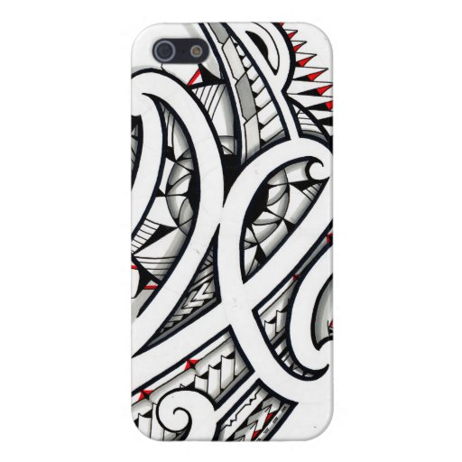 Awesome Maori tribal design on white background iPhone 5 Covers