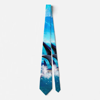 Awesome marlin with bubbles tie