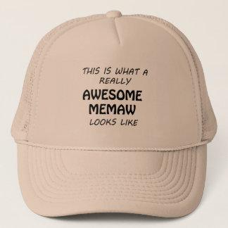 Awesome Memaw Trucker Hat