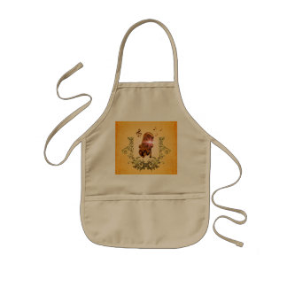 Awesome microphone with clef and key notes kids apron