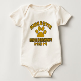 AWESOME MINIATURE AMERICAN ESKIMO MOM BABY BODYSUIT