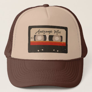 Awesome Mix Tape Retro Vintage Cassette Tape Trucker Hat