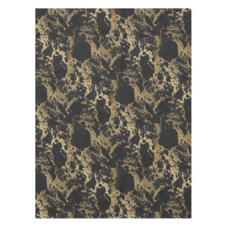Awesome modern faux gold glitter black marble tablecloth