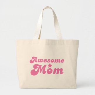 Awesome MOM in pink Canvas Bags