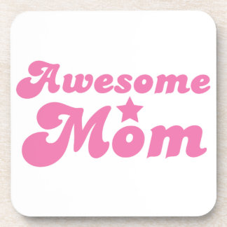Awesome MOM in pink Coasters