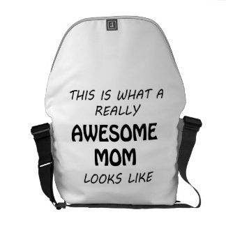 Awesome Mom Messenger Bag