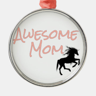 Awesome Mom Metal Ornament