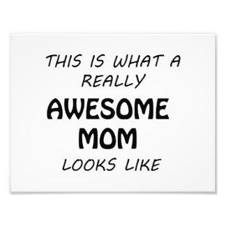 Awesome Mom Photo Print