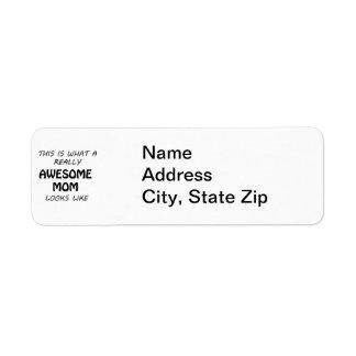 Awesome Mom Return Address Label