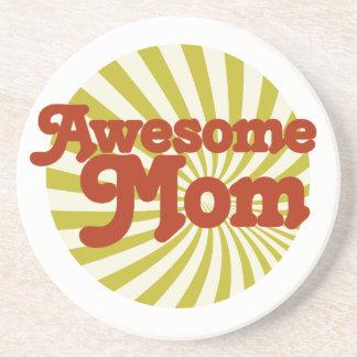 Awesome Mom Sandstone Coaster