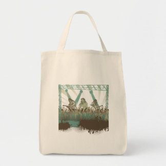 awesome music concert grocery tote bag